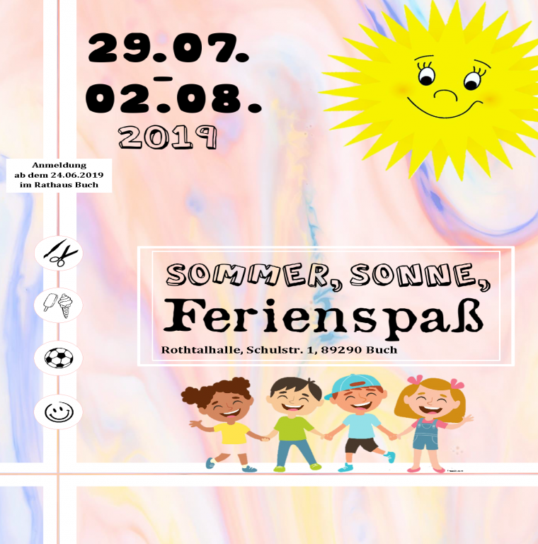 Ferienspaß 2019 Flyer